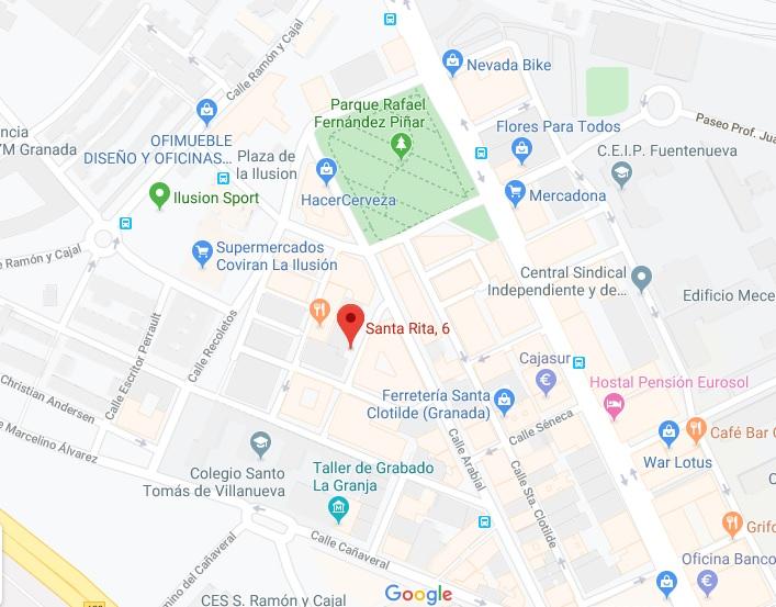 Mapa academia matemáticas Granada