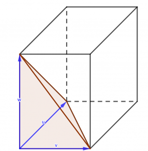 Volumen tetraedro producto mixto