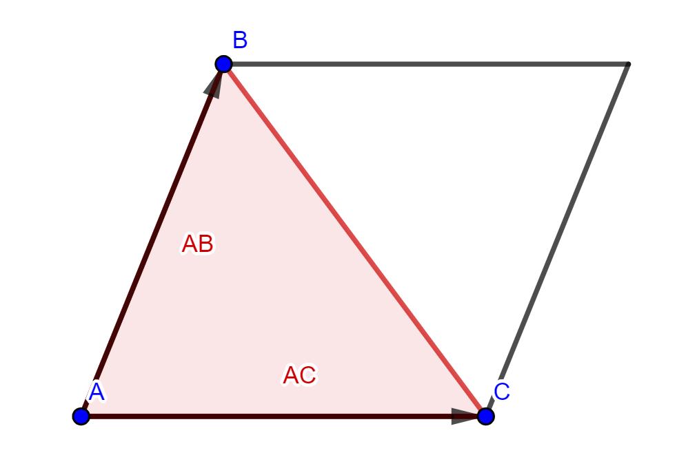 area del triangulo formado por tres puntos