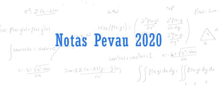 notas pevau 2020
