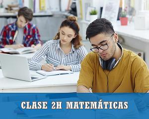 2 horas clase de matematicas